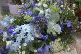 Rouwstuk Blauw & grijs_