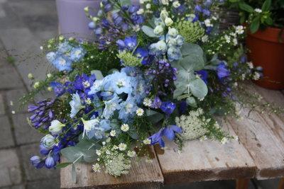 Rouwstuk Blauw & grijs
